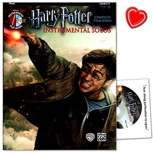 Die Harry Potter Instrumental Solos für Flöte - Selections from the Complete Film Series enthält erstmalig eine Sammlung aus allen acht Filmen des Harry Potter Epos - Sammelband mit CD und bunter herzförmiger Notenklammer