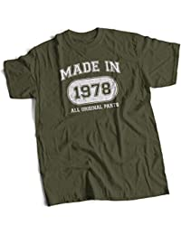 bybulldog Made in 1978 Aged to Perfection 40th Birthday Present Mens Premium T-Shirt Choice of 12 Colours in Sizes Small to 3X Large