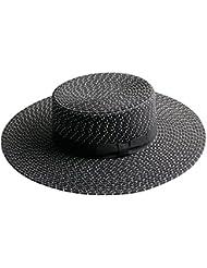 Ocio Mujer oficial plana plana de ala ancha marquesinas beach resort protector solar sombrero de paja