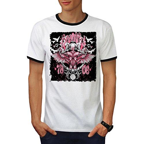 Fee Flügel Herren M Ringer T-shirt | Wellcoda (Männliche Fee Kostüme)