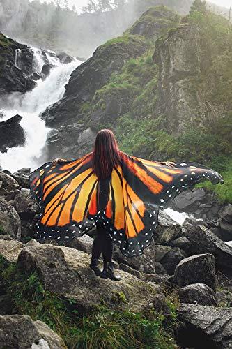 Flügel Kostüm Fliegen - Schmetterlingsflügel monarch mantel kostüm flügel erwachsener feenhafte
