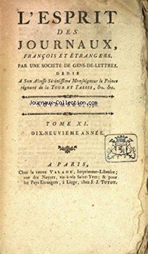 ESPRIT DES JOURNAUX (L') du 01/11/1790