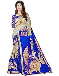 Krishna Enterprises Woman Blue And Cream Color Silk Saree, Saree 1000 Rupees New Design Sarees, Saree 2018, Saree...