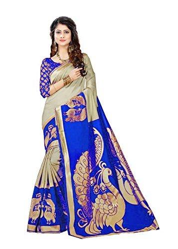 Krishna Enterprises Woman Blue and Cream Color Silk Saree, saree 1000 rupees new design sarees, saree 2018, saree 300 rupees, saree 400 rupees below, saree 500, saree 600 rupees, saree 800, saree 999, saree above 2000, saree below 500, saree cover set, saree designer sarees bollywood, saree embroidered designer, saree for women latest design 2018 fancy, saree georgette saree, saree in cotton, saree, saree kalamkari, saree new collection 2018, saree party wear designer embroidered  available at amazon for Rs.399