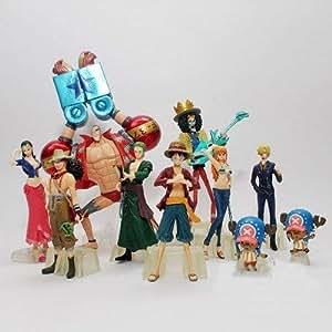 lujex - 10x One Piece The New World Après 2 ans Luffy zéro Set Figurine Brook
