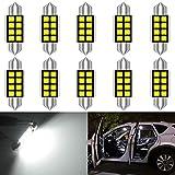 KaTur 10 unids C5W Bombillas 36mm LED CANbus Blanco Puro para Samsung 2835 SMD Luz de la Placa de la Licencia para BMW E39 E36 E46 E90 E60 E30 E53 E70