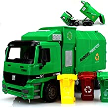F-eshion High Quality Super Large Garbage Truck Toy with 3pcs Trashes Inertia Automatic Lifting Kids Toys Children Gift