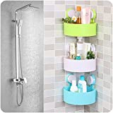 divinext Bathroom Corner Shelf Shower Holder Mounted Cosmetic Storage Plastic Holder (1 Pieces)/A Set Strong Stickiness Corner Shelves