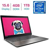 Newest Lenovo IdeaPad 320 15.6-inch HD Anti-Glare(1366x768) Display Laptop PC, Intel Celeron N3350 Processor 1.1GHz, 4GB DDR4 RAM, 1TB HDD, HDMI, Bluetooth, WiFi, Webcam, DVD-RW, Windows 10- Black