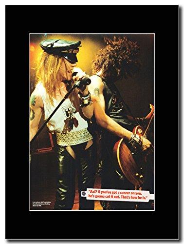 Guns N 'Roses-AxL & Slash at the Roxy 1986Magazine promo su una montatura nero