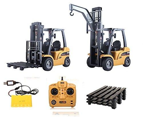 RC Auto kaufen Baufahrzeug Bild 4: s-idee® S1577 Rc Gabelstapler und Kran 8 Kanal 1:10 mit 2,4 GHz Huina 1577*