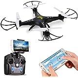 DeeRC HS110W FPV Drohne mit 720P HD Live Video Wifi Kamera 2.4GHz 4CH 6-Axis Gyro RC Quadrocopter mit Höhenhaltung,Schwerkraftsensor und Headless Modus Funktion RTF Drone