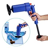 JFJL Hochdruck-Luftablasspumpe Plunger Air Power Drain Blaster Rohr-Bagger-Werkzeuge, Reiniger Unclogs Toiletten-Pumpe Handbetriebener Plunger-Pumpen-Satz