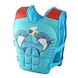 Kinder Badeanzug Schwimmhilfe Bademode - Baby Schwimmen Jacke Schweben Badebekleidung für Jungen Mädchen,Gelb Blau