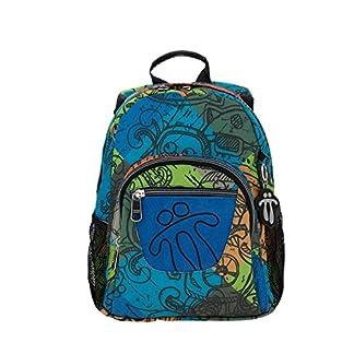 Totto MA04ECO003-1710J-7T9 Tempera Mochila escolar, 10 L, Multicolor, 36.5 x 27 x 12 cm