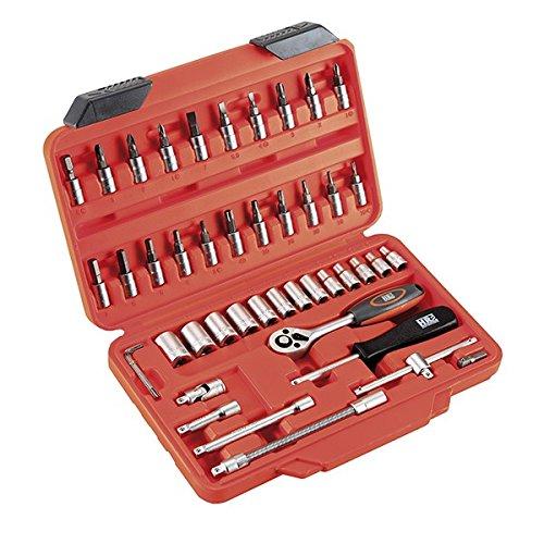 Alyco 192394 - Juego de llaves de vaso HR High Resistance 1/4 de 46 piezas en maletin plastico