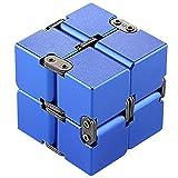 Flower205 Cubo de Aluminio para niños y Adultos, EDC Cubo Infinito Voltear, Juguetes Educativos de Eliminación de Ansiedad