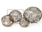 Dekokugel Stern Metall Braun Gold Weihnachten - D14cm