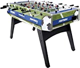 Leomark Table de Babyfoot Table En Bois Jeu de Football, Table de Baby-Foot Merkell, Table de Baby-Foot, Baby Foot Profesional  Haute Qualité  Stable 2 balles
