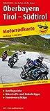 Oberbayern - Tirol - Südtirol: Motorradkarte mit Ausflugszielen, Einkehr- & Freizeittipps,...