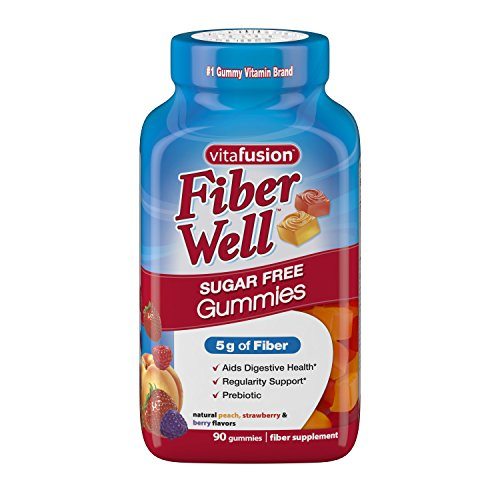 Vitafusion Fiber Gummies, Sugar Free, 90-Count Bottle by Vitafusion (Gummies Vitafusion)