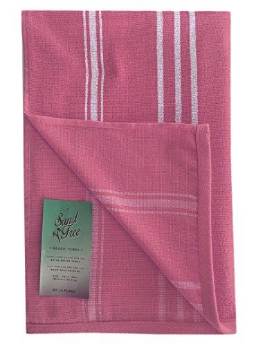 100% Baumwolle dick gestreift Pool und Strand Handtücher Hot Pink Patio Stripe - Pink Gestreiften Strand Handtuch