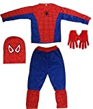#2: Fancyflight Boy's Spiderman Superhero Dress, Glove and Mask Costume (5-6 Years)