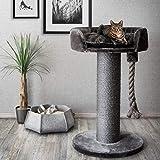 CanadianCat Company ®   Kratzbaum - Lounge Ontario XXL grau mit 20cmØ Sisalstamm, ideal auch für große und schwere Katzen wie z.B. Maine Coon