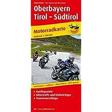 Oberbayern - Tirol - Südtirol: Motorradkarte mit Ausflugszielen, Einkehr- & Freizeittipps, wetterfest, reißfest, abwischbar, GPS-genau. 1:250000 (Motorradkarte / MK)