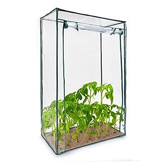 Relaxdays Tomatengewächshaus Stahlrohr u. Folie 150x100x50 cm (HxBxT), stabiles Treibhaus Balkon u. Garten, transparent