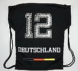TradeCon GmbH Deutschland Sportbeutel, Sporttasche,GymBag Schwarz