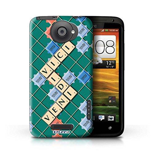 Kobalt® Imprimé Etui / Coque pour HTC One X / Lutte Incendie conception / Série Mots de Scrabble Veni Vidi Vici