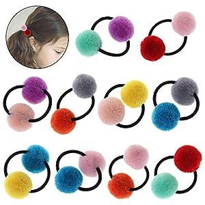 Brucelin Haarband mit Fellkugeln für Mädchen, Ponytail, Baby-Dekoration, Hüte, Haarzubehör, elastisch, schöner Bommel