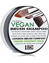 LONDON BRUSH COMPANY Vegan Young Coconut Milk Shampooing Solide pour Pinceau de Maquillage Young Coconut