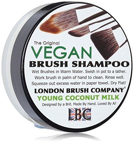 LONDON BRUSH COMPANY Vegan Young Coconut Milk Solid Brush Shampoo, Young Coconut 28 g