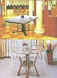 Transparent Tischdecke Durchsichtig Abwaschbar Eckig & Rund & Oval Größen Wählbar (110 x 160 cm)