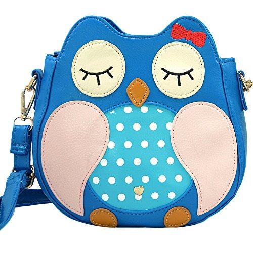 Gufo Ecopelle Borsa a tracolla / Body Bag Croce(blu)