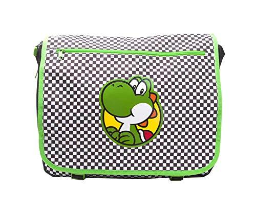 Yoshi Umhängetasche Checkered Logo Super Mario Nue offiziell Nintendo