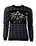 The Legend of Zelda Female Sweatshirt Zelda - Tri-Force Glitter Women's Christmas Sweatshirt Black-M