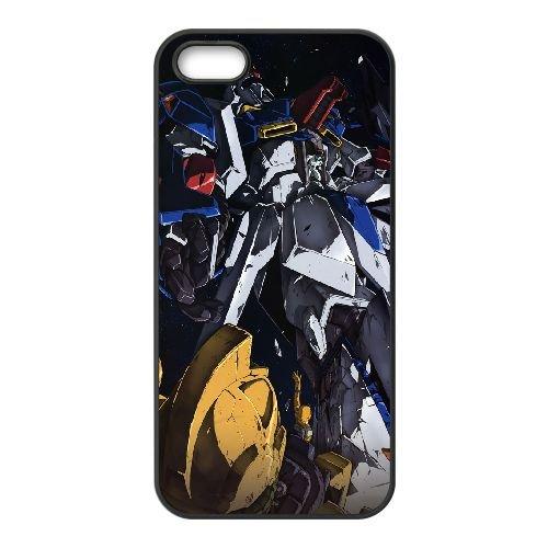 Mobile Suit Zeta Gundam coque iPhone 5 5S Housse téléphone Noir de couverture de cas coque EOKXLKNBC24626