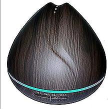 Aroma Difusor, Aupolo 400ml humidificador Oil aromas Humidifier Madera LED con 7 colores para para yoga Salon SPA de salón, dormitorio, baño o la habitación de los Niños Oficina