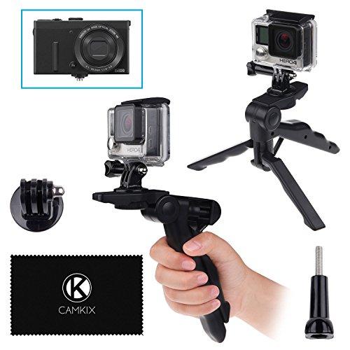 CamKix 2en1 poignée de Pistolet et trépied de Table - Compatible avec GoPro Hero 7/6 / 5 / Hero 4, Session, Black, Silver, Hero + LCD, 3+, 3, 2, 1 et d'autres appareils avec Une Connexion trépied