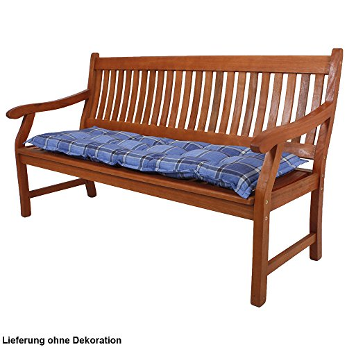 Unbekannt Bank Auflage Textil Stoff Garten Stuhl Sitz Kissen Polster Polyester Baumwolle Kariert Harms 910180 (Bank-kissen-muster)