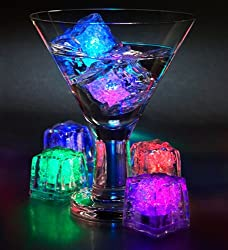 7 Color Changing LED Ice Cubes - 6 PCS