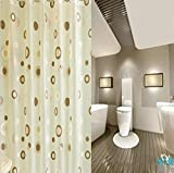 GZD, di fascia alta, la muffa impermeabile, la stampa, cerchio marrone, PEVA tenda della doccia di spessore (1 pacchetto di 2) , 80*180