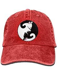ARTOPB Cat Denim Baseball Caps Hat Adjustable Cotton Sport Strap Cap for Men  Women e5ba5197621