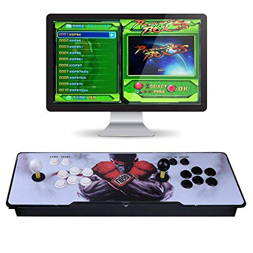 WANTOOSE Neueste System 1299 Klassische Arcade Arcade Machine Spielkonsole Full HD Video Spiel Doppel Stick2 Spieler,Kann an LCD-Fernseher, Monitor angeschlossen Werden
