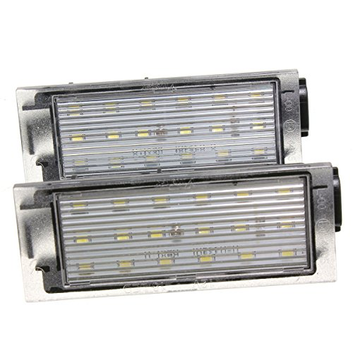 AUDEW Luces de matrícula LED color blanco, 12 V