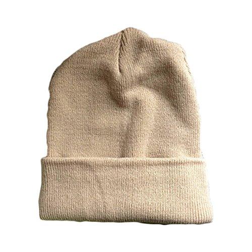 Einfarbig Wolle Hut Paar Europa Und Die Vereinigten Staaten Herbst Und Winter Stricken Caps,Khaki (Staat Stricken)