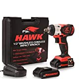 Hawk Tools 12in. 20v 400Nm Brushless Li-ion Cordless Brushless Rattle Impact Socket Wrench